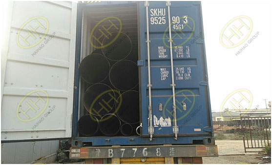 Loading the carbon steel steel pipes in Haihao Group