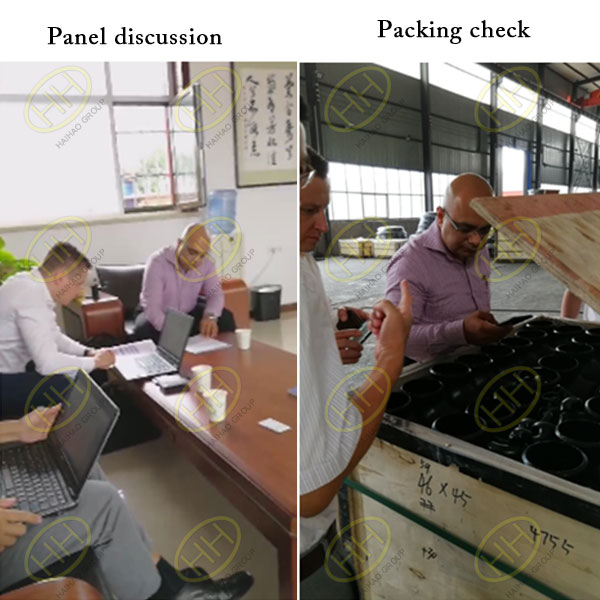 Van Leeuwen in Middle East visit Haihao Group panel discussion,packing check
